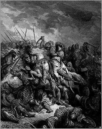 Battle of Arsuf - Richard the Lionheart and Saladin at the Battle of Arsuf, by Gustave Doré.