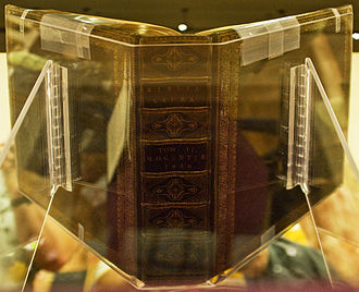 Gutenberg Bible - Spine of the Lenox copy