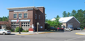 Gwinn, Michigan - Police station in downtown Gwinn