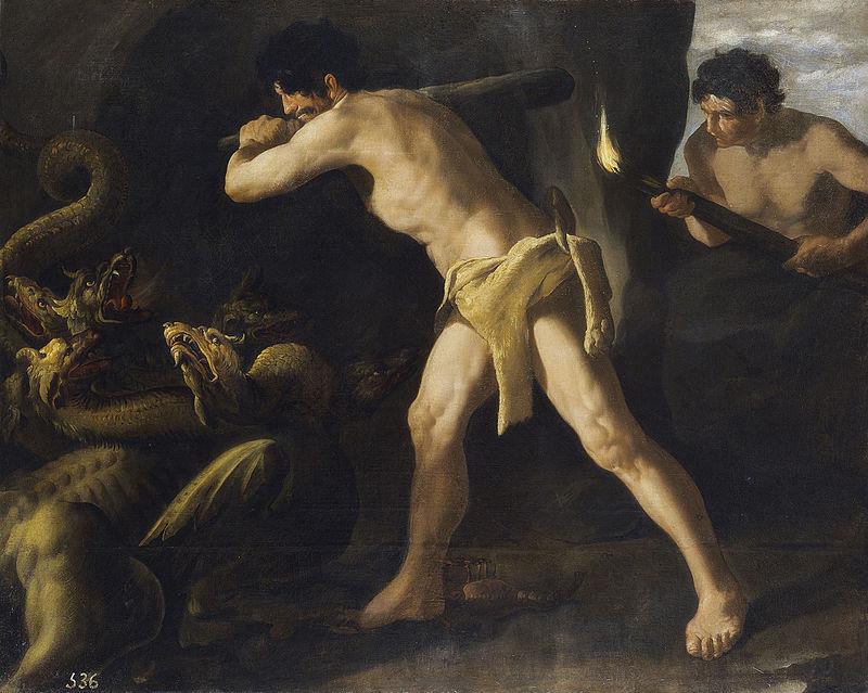 Hércules lucha con la hidra de Lerna, por Zurbarán.jpg