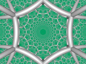 Order-4 hexagonal tiling honeycomb - Image: H3 634 FC boundary