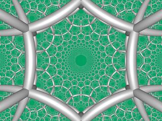 Order-4 hexagonal tiling honeycomb