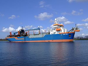 HAM 316 IMO 9160449 p3 at Nordsea channel, Port of Amsterdam, Holland.JPG