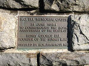 Harry Ell - Image: HG Ell Memorial Gates 01 gobeirne