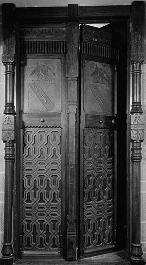Daniel Pabst - Furness-Pabst cabinet doors (1870–71), private collection. Designed for Horace Howard Furness's private library.