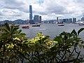 HK 上環 Sheung Wan Central footbridge view Victoria Harbour ICC West Kln July 2019 SSG 05.jpg
