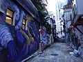 HK Sheung Wan evening Tai Ping Shan Street back lane wall graffiti July-2015 DSC 001.JPG
