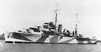 Attack on Convoy BN 7 - Image: HMAS Yarra (AWM 016263)