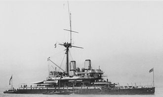 Frederick Richards - HMS ''Devastation'', the first steam turret battleship without no sail power, which Richards commanded