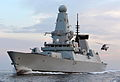 HMS Diamond with Sea King Helicopter MOD 45154621.jpg