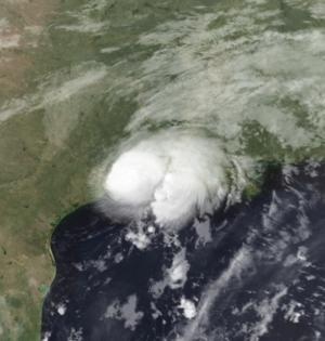 Hurricane Humberto (2007) - Image: HU Humberto Sep 13 2007 AQUA MODIS