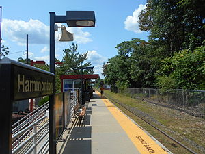Hammonton station - Hammonton station in August 2014.