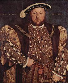 Henri VIII par Hans Holbein le Jeune.