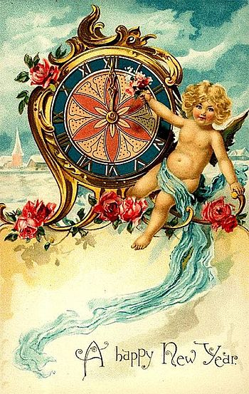 New Year's Day postcard circa 1900