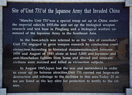Information sign at the site today