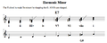 Harmonic minor scale in Aminor.png