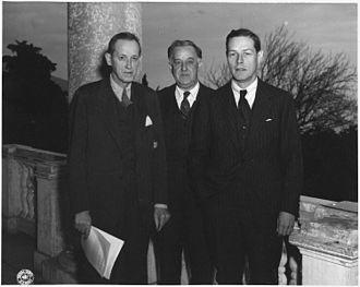 Charles E. Bohlen - Bohlen (on right) in February, 1945