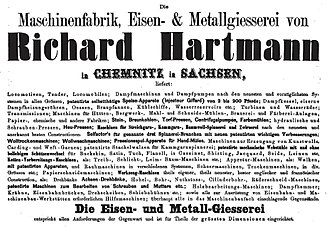Sächsische Maschinenfabrik - Poster for the engineering works (1861)