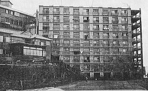 Hashima Island - An apartment block on the island, circa 1930