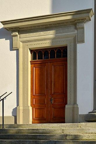 Uster Reformed Church - main portal
