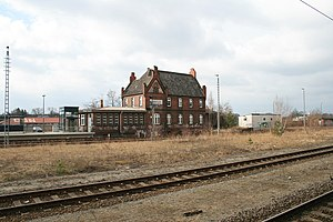 Rathenow railway station - Heritage-listed station building of the Brandenburg Towns Railway