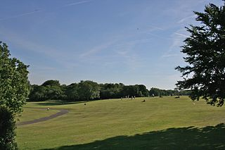 Heaton Park municipal park in Manchester, England