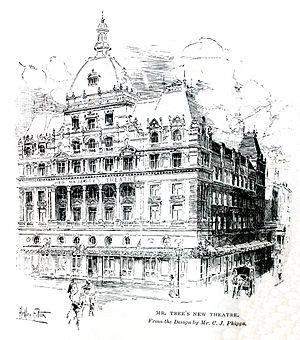 George W. Anson - Her Majesty's Theatre in London, built in 1897; illustration in The Strand magazine.