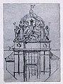 Heilbronn, Altes Theater, 2. Handskizze von Theodor Fischer für den Giebel (* 28. Mai 1862 in Schweinfurt; † 25. Dezember 1938 in München).jpg