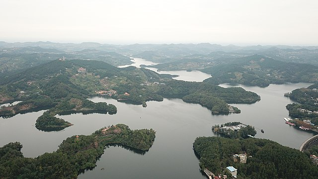 Drone photo of Heilongtan Lake