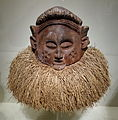 Helmet mask, Democratic Republic of the Congo, Holo or Suku peoples, early to mid 20th century, wood, raffia - Cincinnati Art Museum - DSC04282.JPG
