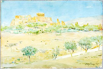Henry Bacon (painter) - Image: Henry Bacon General View of the Acropolis at Sunset 1927.5.5 Smithsonian American Art Museum