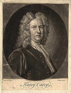 Henry Carey (writer) English composer and playwright