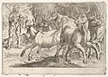 Hercules and the Oxen of Geryones- with a club raised by his right hand, Hercules confronts a group of galloping oxen, from the series 'The Labors of Hercules' MET DP832521.jpg