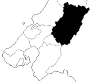 Heretaunga (New Zealand electorate) - Heretaunga electorate boundaries between 1993 and 1996.