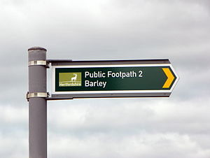 Right of way - Hertfordshire public access