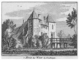 Het huis in 1743 door Hendrik Spilman, naar origineel van Jan de Beijer Collectie Gelders Archief