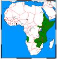 Heterohyrax bruceii range map.png