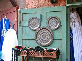 Hidden Mickey - A Hidden Mickey in a shop in the Morocco Pavilion at Epcot in Walt Disney World, Florida