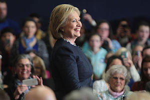 United States presidential election in New Hampshire, 2016 - Former Secretary of State Hillary Clinton at a campaign event in Manchester, New Hampshire