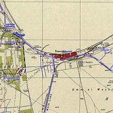 Historische Kartenserie für das Gebiet von Samakh, Tiberias (1940er Jahre mit moderner Überlagerung) .jpg