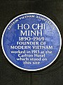 Ho Chi Minh 1890-1969 founder of modern Vietnam worked in 1913 at the Carlton Hotel which stood on this site.jpg