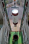 Hoisting of PSLV-C44 second stage during vehicle integration.jpg