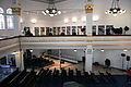 Holocaust Memorial Center, The Synagogue upstairs gallery 004 with Exhibition.jpg