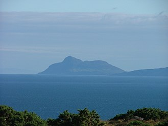 Islands of the Clyde - Holy Isle seen from Bute