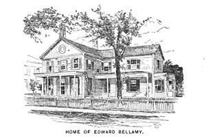 Edward Bellamy House - Drawing of Bellamy's house, published in 1902