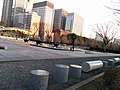 Homeless-proof benches in Tokyo park.jpg