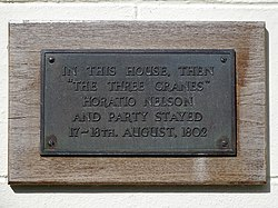 Horatio nelson   beaufort square plaque