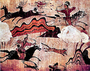 Culture of Korea - Korean horseback archery in the fifth century