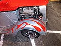 Hot Rod, right front fender red flames motor exposed photography by david adam kess. pic.1a2.jpg