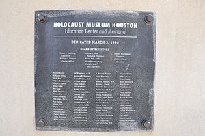 Holocaust Museum Houston - Image: Houston Holocaust Museum Patrons